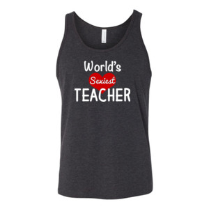 World's Sexiest Teacher - Bella Canvas - 3480 (DTG) - Unisex Jersey Tank