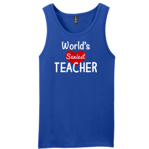 World's Sexiest Teacher - District - Young Mens The Concert Tank ® (DTG)