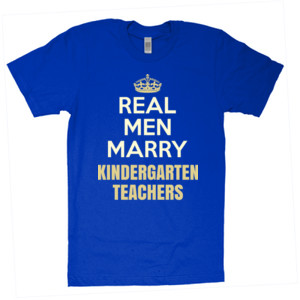 Real Men Marry ~ Customizable ~  - American Apparel - Unisex Fine Jersey T-Shirt - DTG