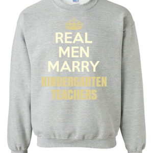 Real Men Marry ~ Customizable ~  - Gildan - 8oz. 50/50 Crewneck Sweatshirt - DTG