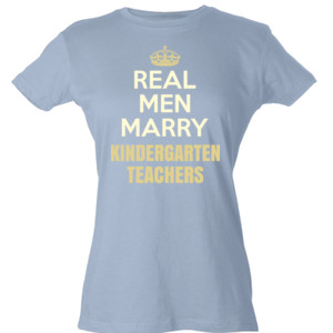 Real Men Marry ~ Customizable ~  - Tultex - Ladies' Slim Fit Fine Jersey Tee (DTG)