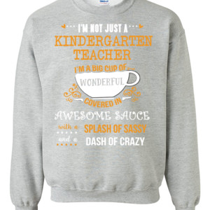 Big Cup Of Wonderful - Template - Gildan - 8oz. 50/50 Crewneck Sweatshirt - DTG