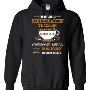 Big Cup Of Wonderful - Template - Gildan - 8 oz. 50/50 Hooded Sweatshirt - DTG