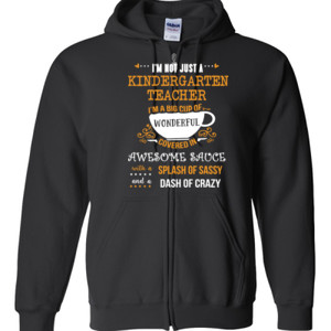 Big Cup Of Wonderful - Template - Gildan - Full Zip Hooded Sweatshirt - DTG