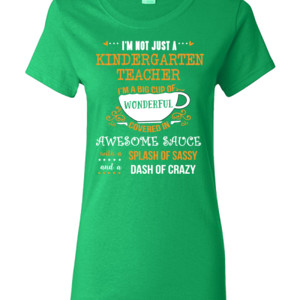 Big Cup Of Wonderful - Template - Gildan - Ladies 100% Cotton T Shirt - DTG