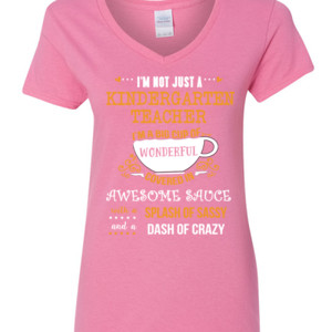 Big Cup Of Wonderful - Template - Gildan - 5V00L (DTG) - 100% Cotton V Neck T Shirt