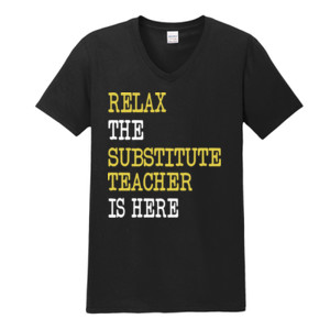 RELAX ~ Customizable Template - Gildan - Softstyle ® V Neck T Shirt - DTG