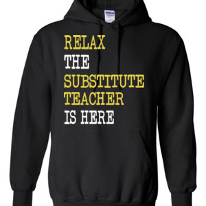 RELAX ~ Customizable Template - Gildan - 8 oz. 50/50 Hooded Sweatshirt - DTG