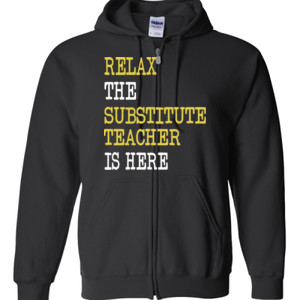 RELAX ~ Customizable Template - Gildan - Full Zip Hooded Sweatshirt - DTG