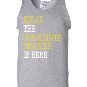RELAX ~ Customizable Template - Gildan - 2200 (DTG) - 6oz 100% Cotton Tank Top