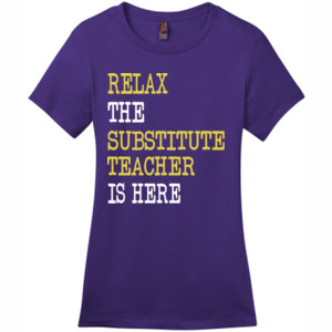 RELAX ~ Customizable Template - District - DM104L (DTG) - Ladies Crew Tee