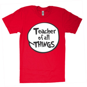 Teacher Of All Things - American Apparel - Unisex Fine Jersey T-Shirt - DTG