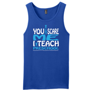 You Can't Scare Me I Teach Preschool - District - Young Mens The Concert Tank ® (DTG)