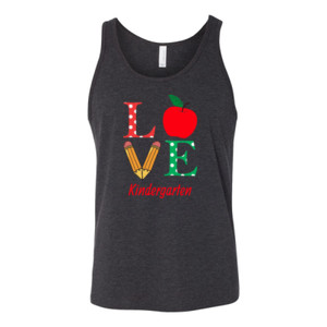Love Kindergarten - Bella Canvas - 3480 (DTG) - Unisex Jersey Tank