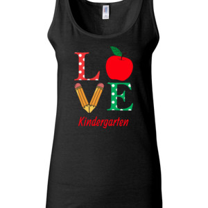 Love Kindergarten - Gildan - 64200L (DTG) 4.5 oz Softstyle ® Junior Fit Tank Top