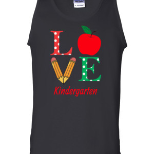 Love Kindergarten - Gildan - 2200 (DTG) - 6oz 100% Cotton Tank Top