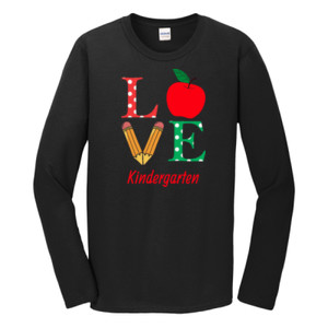 Love Kindergarten - Gildan - Softstyle ® Long Sleeve T Shirt - DTG