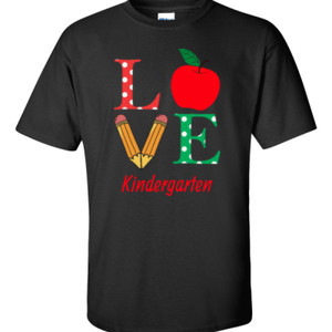 Love Kindergarten - Gildan - 6.1oz 100% Cotton T Shirt - DTG