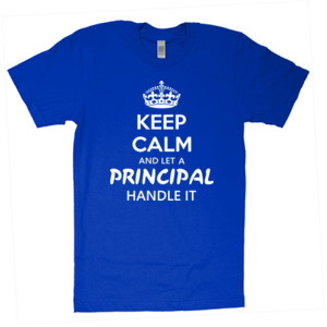 Keep Calm & Let A Principal Handle It - American Apparel - Unisex Fine Jersey T-Shirt - DTG