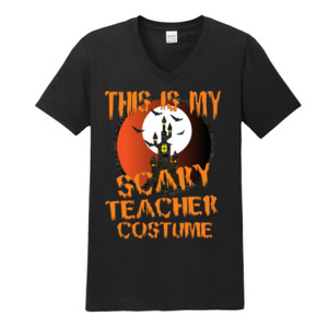 Scary Teacher - Gildan - Softstyle ® V Neck T Shirt - DTG