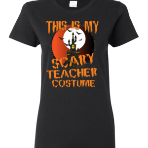 Scary Teacher - Gildan - Ladies 100% Cotton T Shirt - DTG