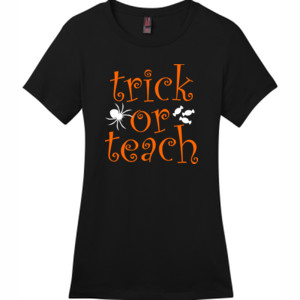 Trick Or Teach - District - DM104L (DTG) - Ladies Crew Tee