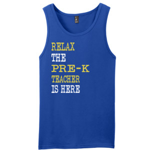 Relax ~ The Pre-K Teacher Is Here - District - Young Mens The Concert Tank ® (DTG)