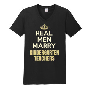 Real Men Marry ~ Customizable ~  - Gildan - Softstyle ® V Neck T Shirt - DTG