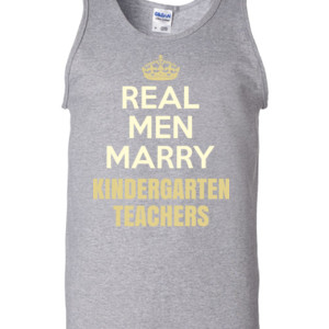 Real Men Marry ~ Customizable ~  - Gildan - 2200 (DTG) - 6oz 100% Cotton Tank Top