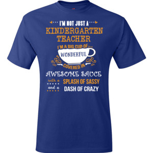 Big Cup Of Wonderful - Template - Hanes - TaglessT-Shirt - DTG