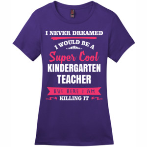 Super Cool ~ Killing It Customizable Template - District - DM104L (DTG) - Ladies Crew Tee