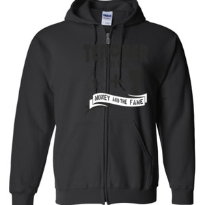 Money & Fame - Gildan - Full Zip Hooded Sweatshirt - DTG