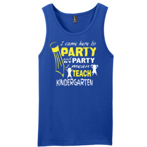 I Came Here To Party- Kindergarten - District - Young Mens The Concert Tank ® (DTG)