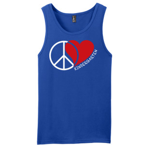 Peace Love Kindergarten  - District - Young Mens The Concert Tank ® (DTG)