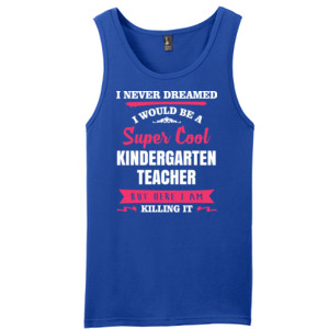 Super Cool Kindergarten Teacher - District - Young Mens The Concert Tank ® (DTG)