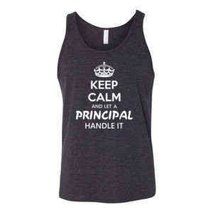 Keep Calm & Let A Principal Handle It - Bella Canvas - 3480 (DTG) - Unisex Jersey Tank
