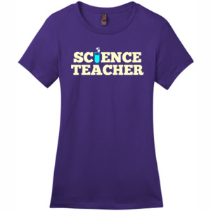 Science Teacher - District - DM104L (DTG) - Ladies Crew Tee