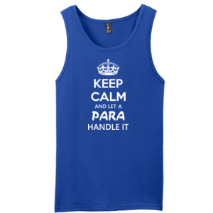 Keep Calm & Let A Para Handle It - District - Young Mens The Concert Tank ® (DTG)