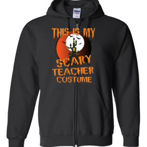 Scary Teacher - Gildan - Full Zip Hooded Sweatshirt - DTG