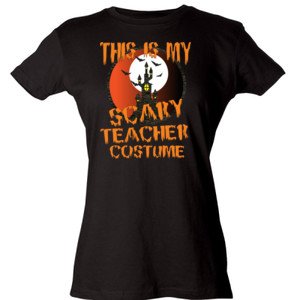 Scary Teacher - Tultex - Ladies' Slim Fit Fine Jersey Tee (DTG)