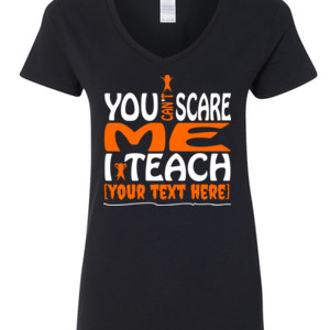 You Can't Scare Me - Template - Gildan - 5V00L (DTG) - 100% Cotton V Neck T Shirt