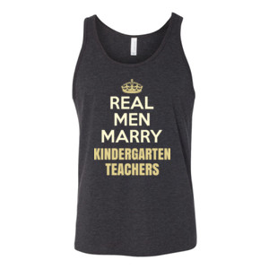 Real Men Marry ~ Customizable ~  - Bella Canvas - 3480 (DTG) - Unisex Jersey Tank
