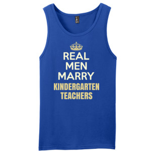 Real Men Marry ~ Customizable ~  - District - Young Mens The Concert Tank ® (DTG)